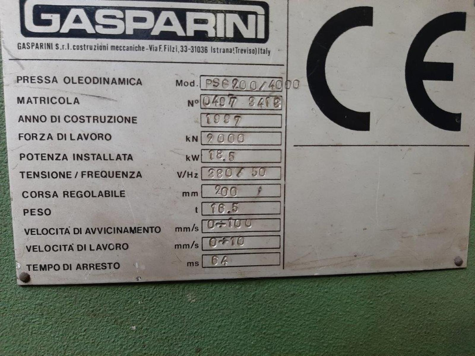 Pressa piegatrice Press brake Gasparini 4000 x   200 ton